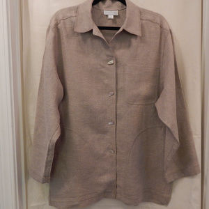 Doncaster Jacket/Blazer Size Med Raw Silk Tan